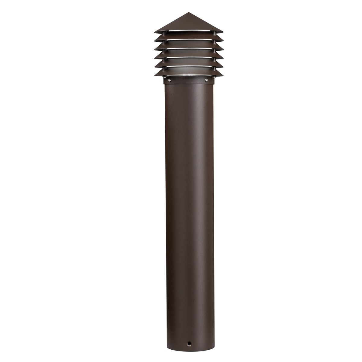 2800K Louvered LED Bollard Textured Architectural Bronze