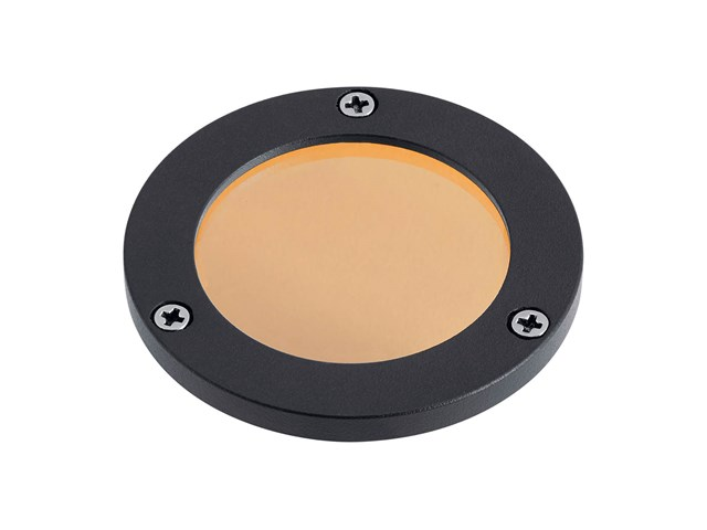 C-Series Small Amber Lens Textured Black