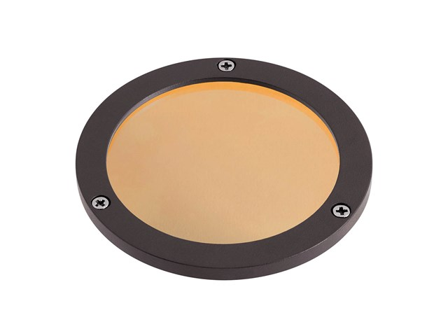 C-Series Large Amber Lens Textured Architectural Bronze