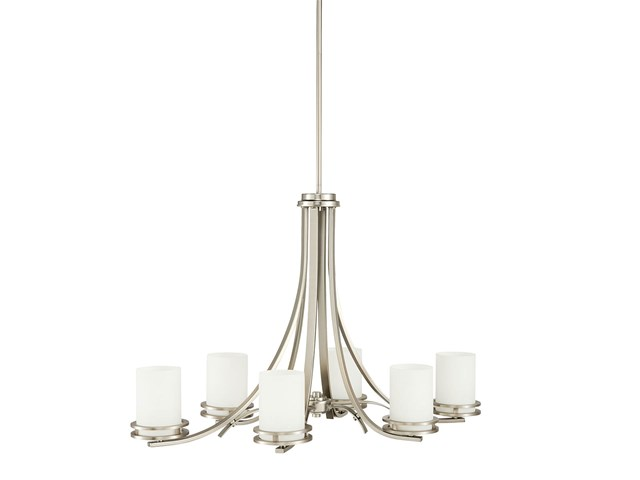 Hendrik 6 Light Chandelier Brushed Nickel