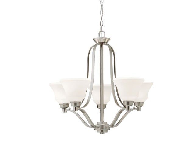 Langford™ 5 Light Chandelier with LED Bulbs Brushed Nickel