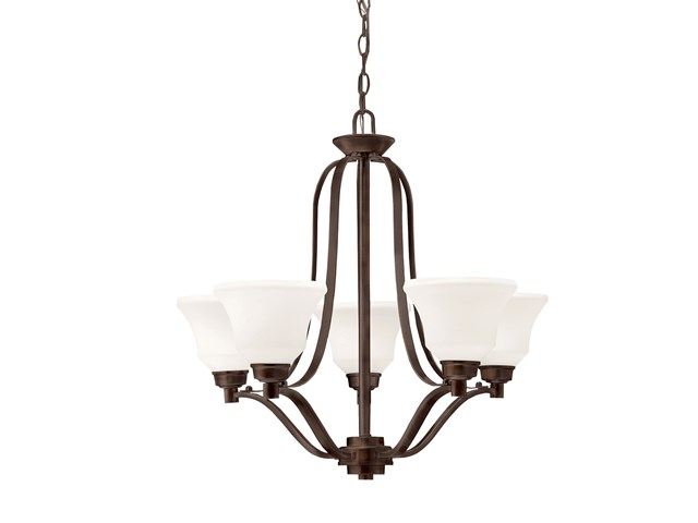 Langford™ 5 Light Chandelier with LED Bulbs Olde Bronze®