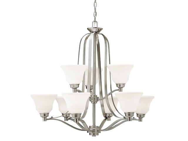Langford™ 9 Light Chandelier Brushed Nickel