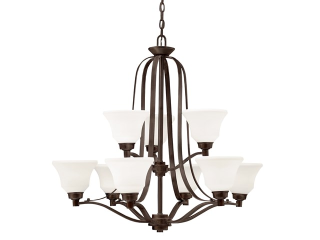 Langford™ 9 Light Chandelier with LED Bulbs Olde Bronze®