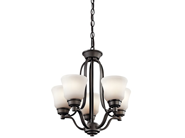Langford™ 5 Light Mini Chandelier with LED Bulbs Olde Bronze®