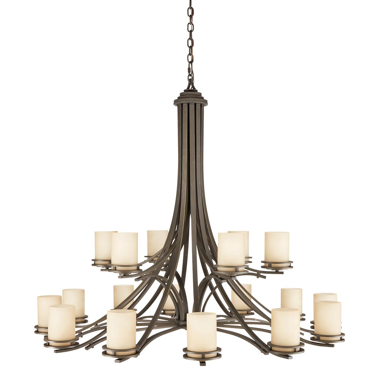 Hendrik 18 Light 2 Tier Chandelier in Olde Bronze®