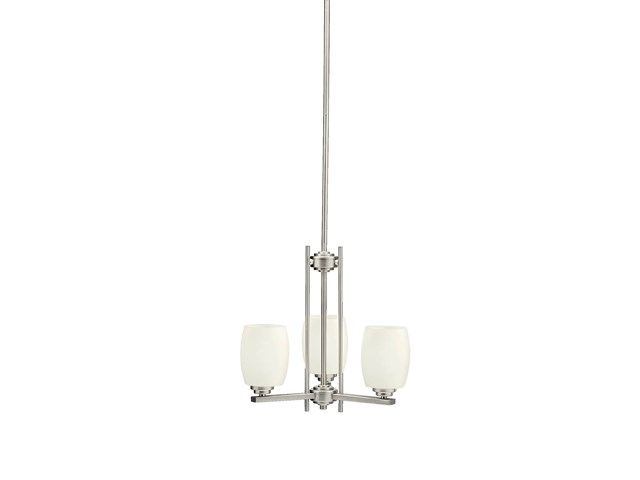 Eileen 3 Light Mini Chandelier Brushed Nickel