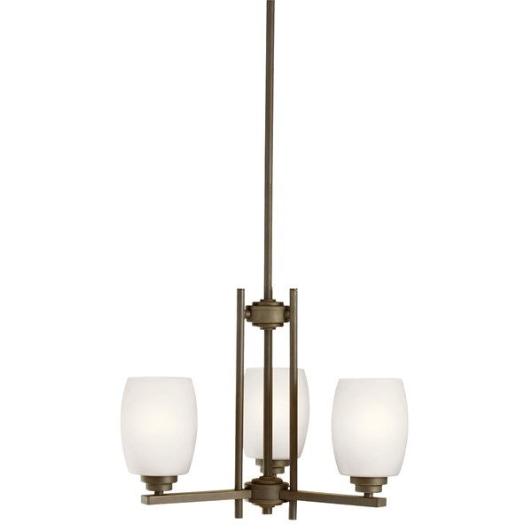 Eileen 3 Light Mini Chandelier with LED Bulbs Olde Bronze®