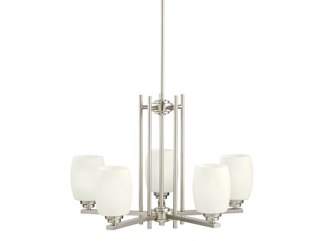 Eileen 5 Light Chandelier Brushed Nickel