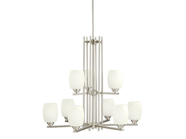 Eileen 9 Light Chandelier Brushed Nickel