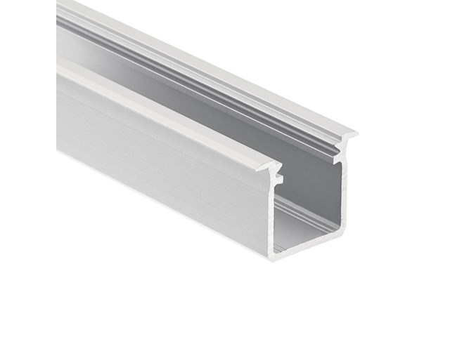 TE Standard Series Deep Well Recessed Channel Silver