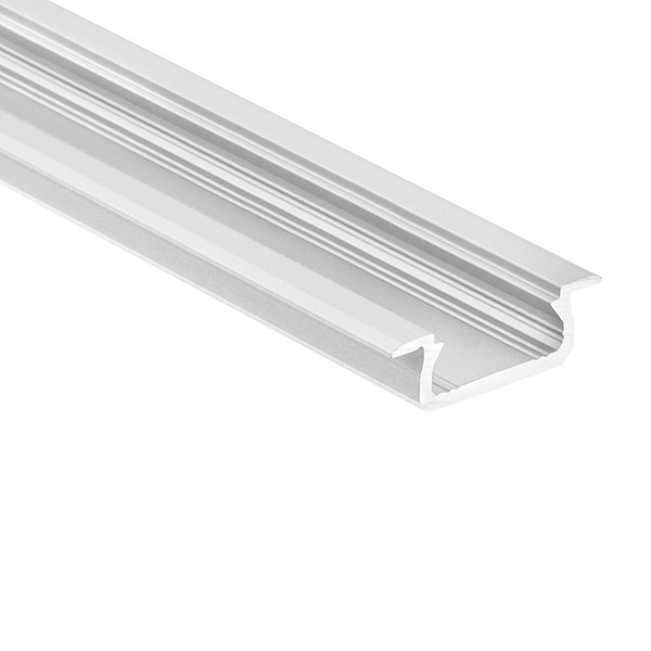 TE Standard Series Shallow Well Recessed Channel Silver