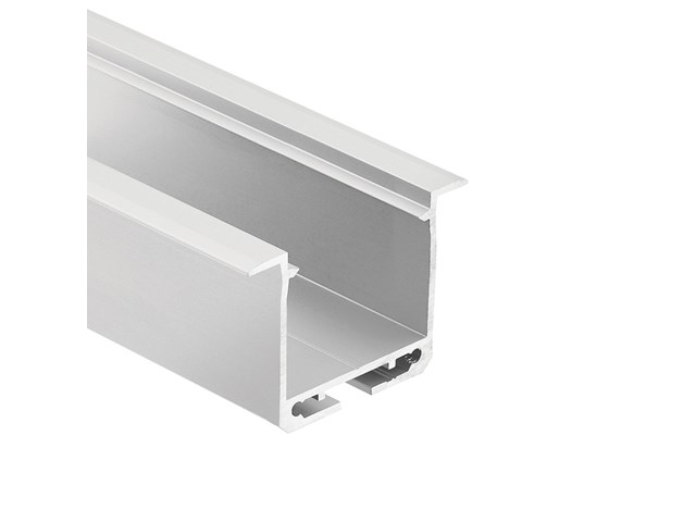 TE Enhanced Series Deep Well Recessed Channel Silver