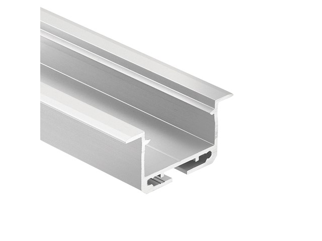 TE Enhanced Series Standard Depth Recessed Channel Silver