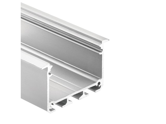 TE Enhanced Series Deep Well Wide Recessed Channel Silver