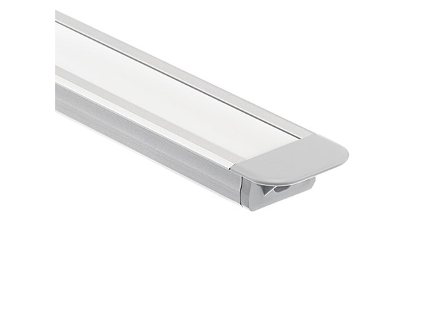 TE Standard Series 8' Kit Standard Depth Recessed Channel Silver