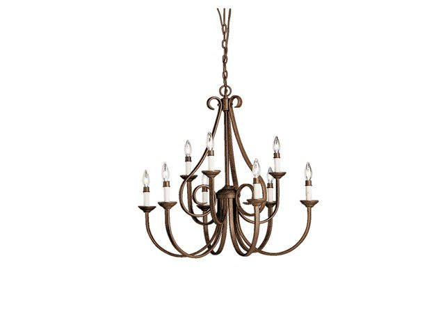 Dover 9 Light 2 Tier Chandelier Tannery Bronze™
