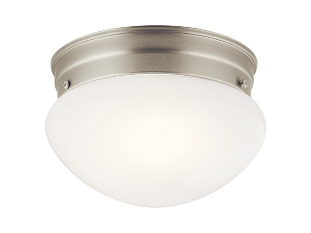 "Ceiling Space 7.5"" 1 Light Flush Mount Brushed Nickel"