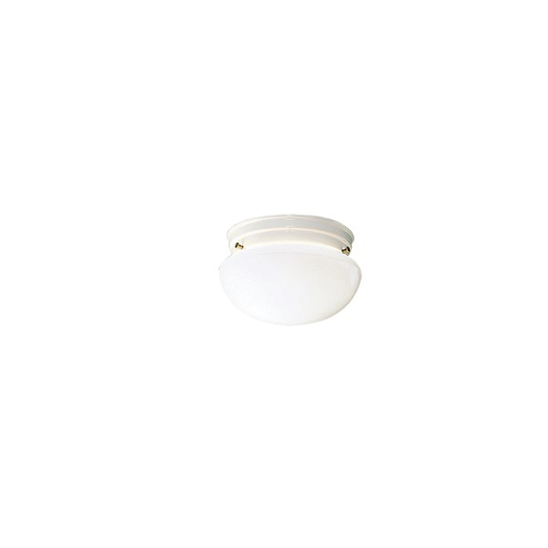"Ceiling Space 7.5"" 1 Light Flush Mount White"