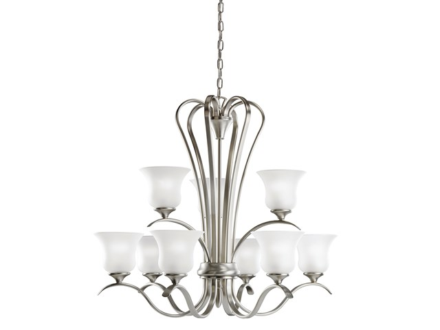 Wedgeport 9 Light Chandelier with LED Bulbs Brushed Nickel