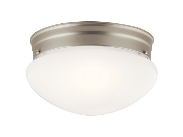 Ceiling Space 2 Light Flush Mount Brushed Nickel