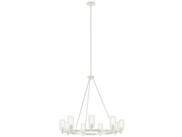 Circolo 9 Light Chandelier Brushed Nickel