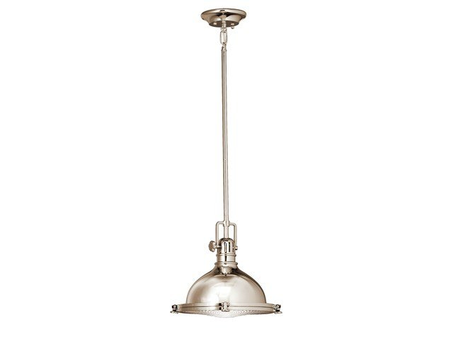 "Hatteras Bay 8"" 1 Light Pendant Polished Nickel™"