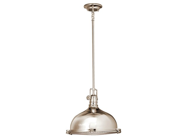 "Hatteras Bay 13"" 1 Light Pendant Polished Nickel™"