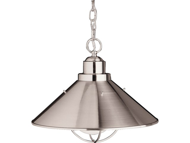 "Seaside™ 16"" 1 Light Pendant Brushed Nickel"