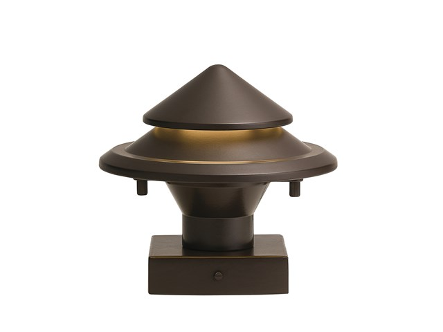 Showscape™ Stepped Cone Post Light with Light Leak Olde Bronze®
