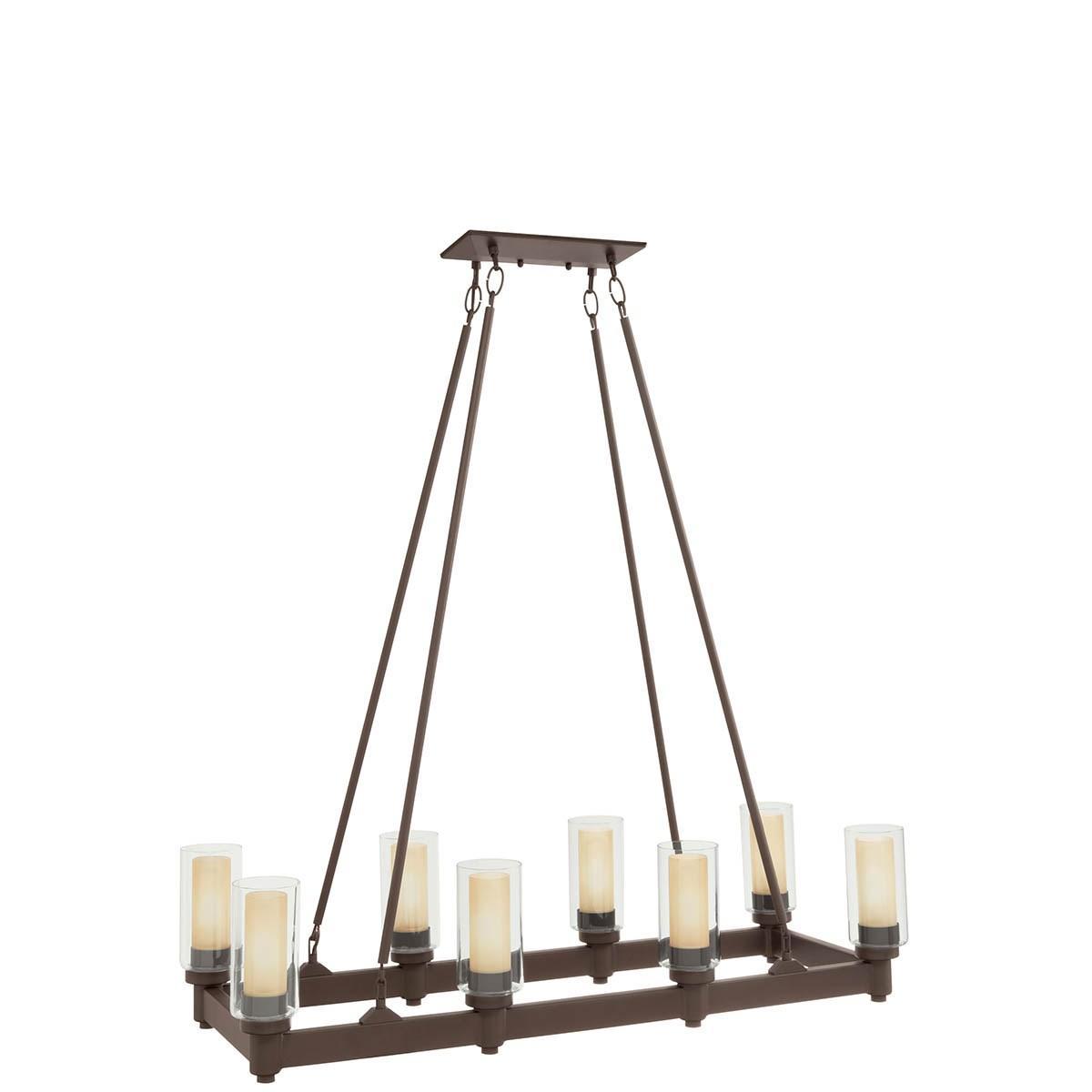 8 Light Linear Chandelier