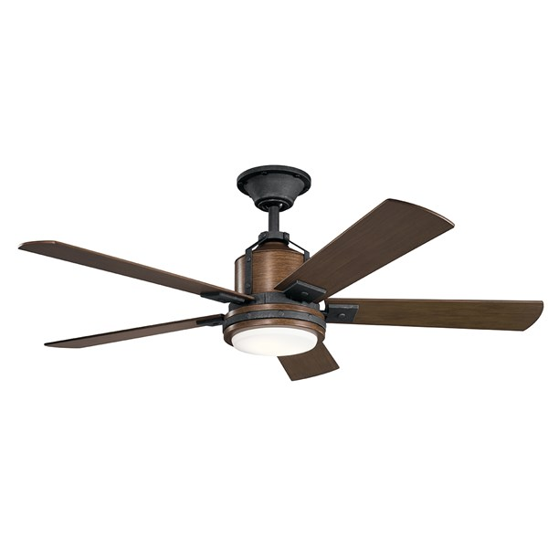 "Colerne™ LED 52"" Fan Distressed Black"
