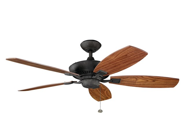 "Canfield 52"" Fan Distressed Black"