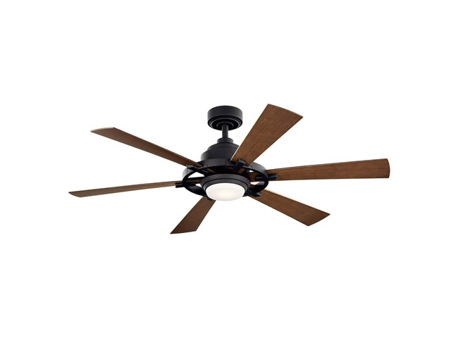 "Iras™ LED 52"" Ceiling Fan Distressed Black"