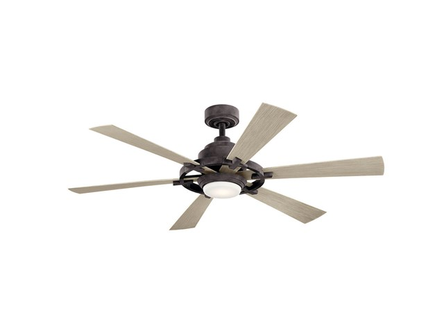 "Iras™ LED 52"" Ceiling Fan Weathered Zinc"