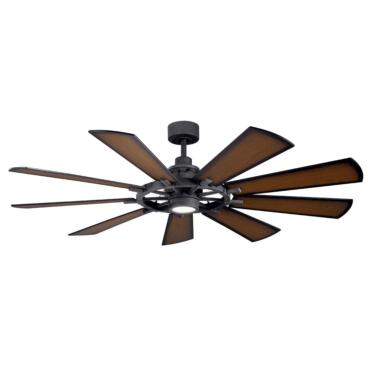 """Www Kichler: Gentry LED 65"""" Fan Distressed Black"""