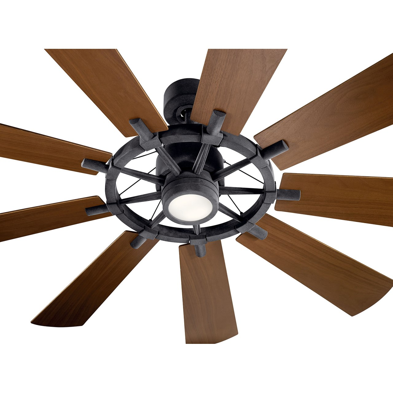 "Gentry LED 65"" Fan Distressed Black"