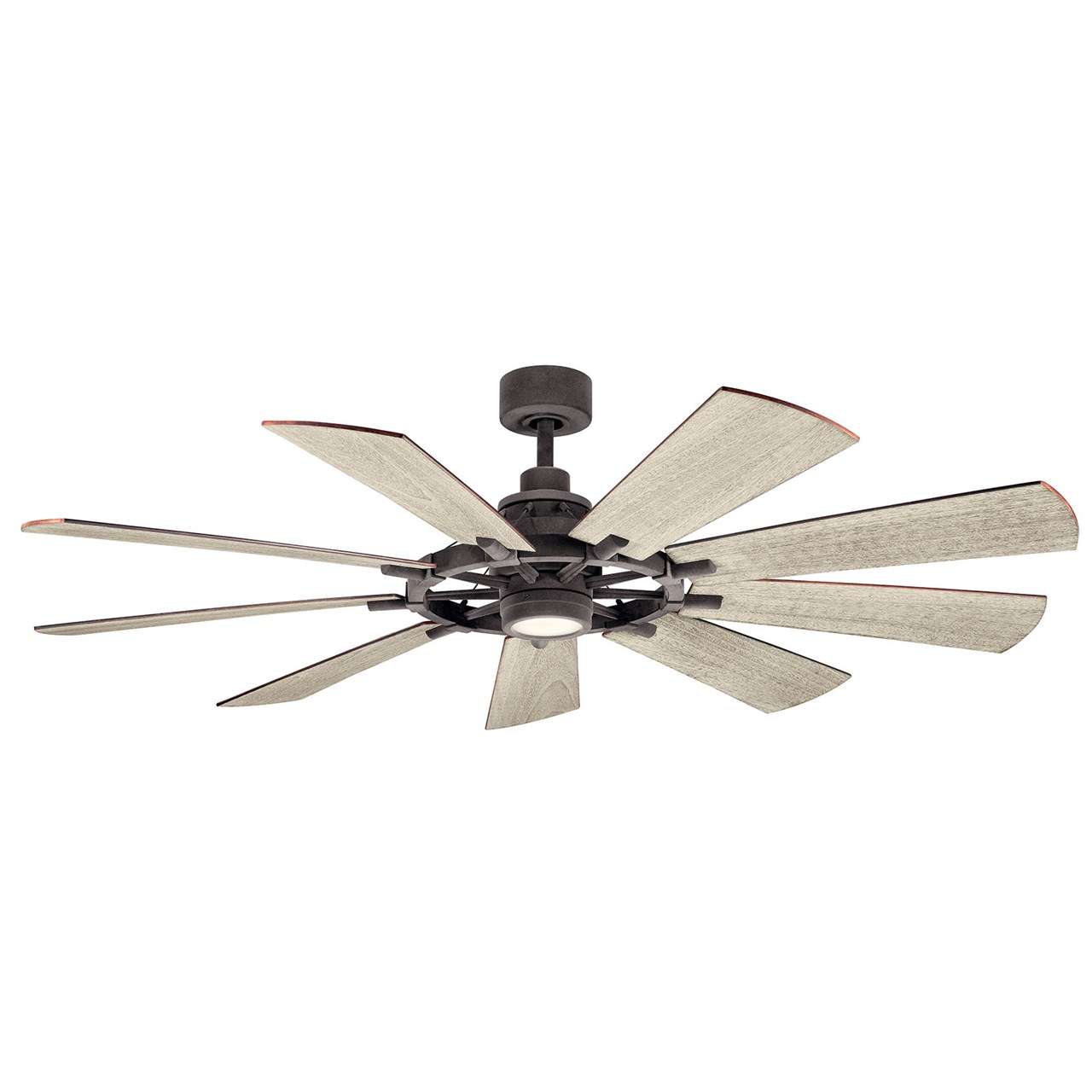 "Gentry LED 65"" Fan Weathered Zinc"