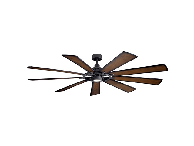 "Gentry XL LED 85"" Fan Distressed Black"