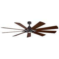 "Gentry XL LED 85"" Fan Weathered Zinc"
