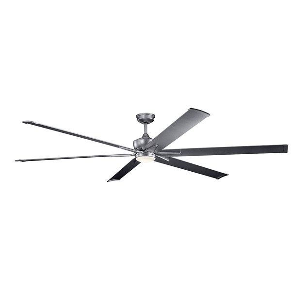 "Szeplo™ II LED 96"" Fan Weathered Steel"