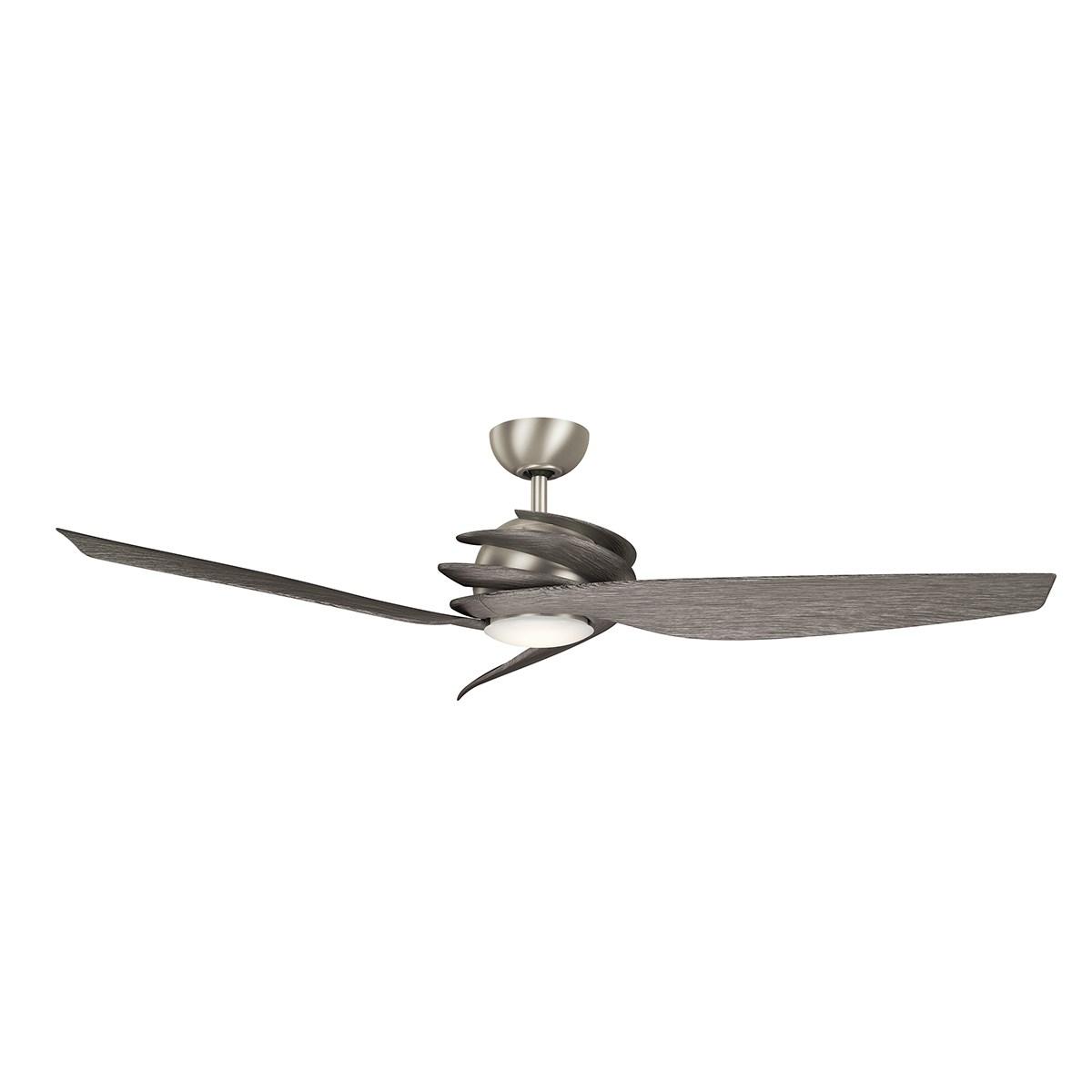 """Www Kichler: Spyra LED 62"""" Fan Brushed Nickel"""