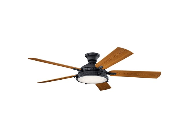 "Hatteras Bay™ LED 3000K 60"" Fan Distressed Black"