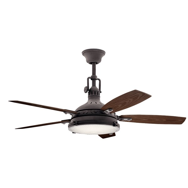 "Hatteras Bay™ LED 3000K 52"" Fan Weathered Zinc"