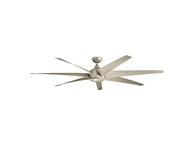 "Lehr™ Climates™ 80"" Fan Antique Satin Silver"