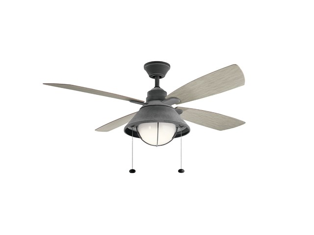 "Seaside™LED 54"" Fan Weathered Zinc"