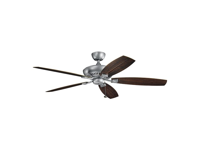 "Canfield XL Patio 60"" Fan Weathered Steel"