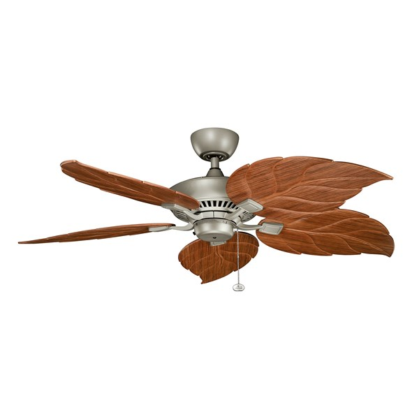 "Canfield 52"" Fan Antique Satin Silver"