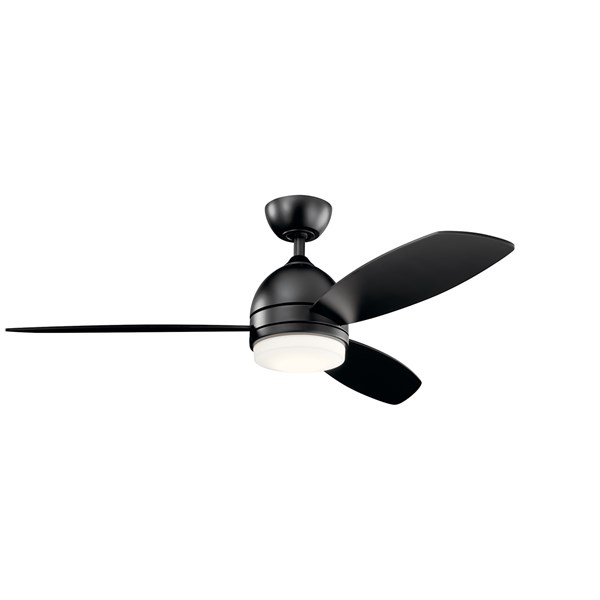 "Vassar LED 3000K 52"" Fan Satin Black"