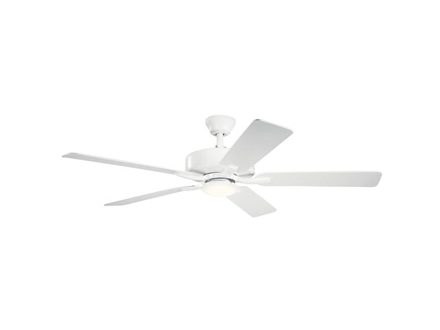 "52"" Basics Pro Designer LED Fan Matte White"